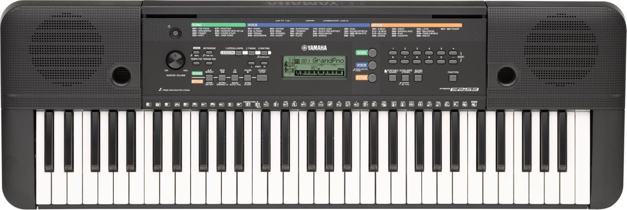Yamaha PSR-E253 - a top 10 61 key keyboard piano for beginners